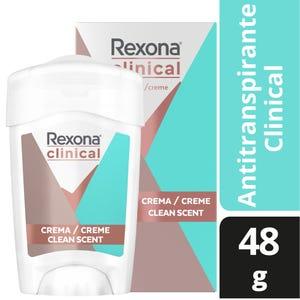 Desodorante Antitranspirante Rexona ClInical Clean Fresh en Barra 48 gr