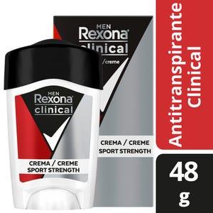 Desodorante Antitranspirante Rexona Clinical Sport Fresh en Crema 45 gr