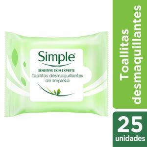 Toallitas Desmaquillantes Simple Regulares de Limpieza 25 un