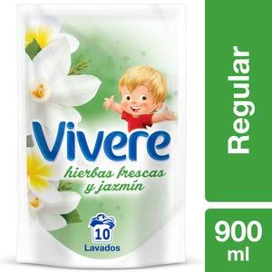 Suavizante Regular Vivere Hierbas Frescas y Jazmín Doypack 900 ml