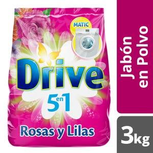 Jabón en Polvo Drive Rosas y Lilas 3 kg