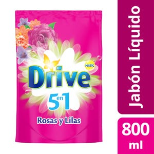 Jabón Líquido Drive Matic Rosas y Lilas Doypack 800 ml