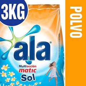 Jabón en Polvo Ala Matic Mañana de Sol 3 kg