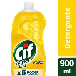 Detergente Concentrado Cif Active Gel Limón 900 ml