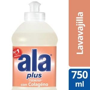 Detergente Lavavajilla Ala Plus Cremoso con Colágeno 750 ml