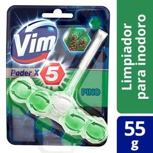Canasta Sólida para Inodoro Vim Poder x5 Pino 55 gr