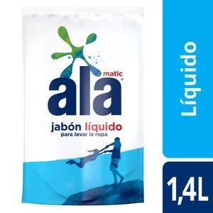 Jabón Líquido Ala Matic Lavado Perfecto Doypack 1,4 lt