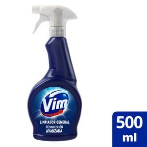 Limpiador Vim Multisuperficies Desinfección Avanzada con Lavandina/Cloro Gatillo 500 ml