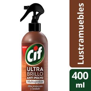 Lustramuebles Cif Ultra Brillo Spray Recargable 400 ml