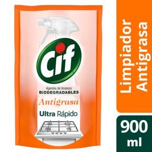 Limpiador Cif Líquido Antigrasa Repuesto 900 ml