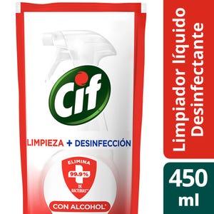 Limpiador Cif 2 en 1 Limpieza y desinfección 450 ml