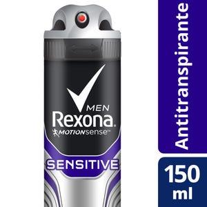 Desodorante Antitranspirante Rexona Sensitive en Aerosol 150 ml
