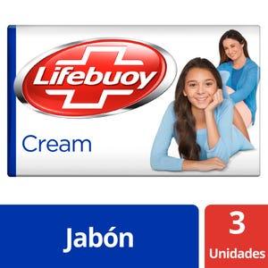 Jabón en barra Lifebuoy Antibacterial Cream multipack 3x125 gr