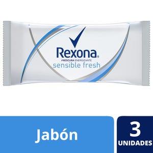 Jabón en Barra Rexona Sensible Fresh multipack 3x125 gr