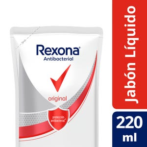 Jabón Líquido Rexona Antibacterial Original 220 ml