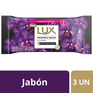 Jabón en Barra Lux Orquídea Negra multipack 3x125 gr
