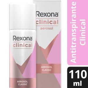 Desodorante Antitranspirante Rexona Clinical en Aerosol 110 ml