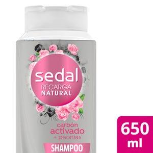 Shampoo Sedal Carbón activado y peonias 650 ml