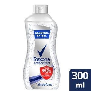 Alcohol en Gel Rexona Antibacterial Sin Perfume 300 ml