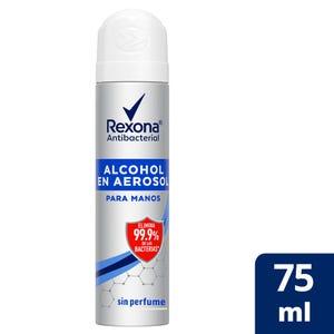 Alcohol en Aerosol Rexona Antibacterial Sin Perfume 75 ml