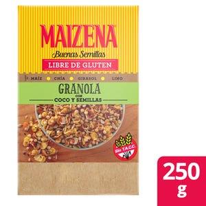 Granola Maizena coco y semillas 250 gr