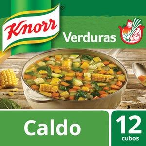 Caldo en Cubos Knorr de Verduras 12 un