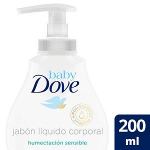 Jabón Líquido Corporal Baby Dove Humectación Sensible 200 ml