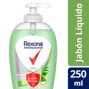 Jabón Líquido Rexona Antibacterial Aloe Vera 250 ml