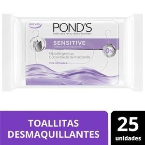 Toallitas Desmaquillantes Pond's Sensitive 25 un