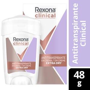 Desodorante Antitranspirante Rexona Clinical Extra Dry en Barra 48 gr