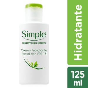 Crema Facial Humectante Simple Con FPS 15 125 ml