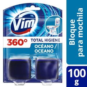 Bloque de mochila para Inodoro Vim Total Higiene Oceáno 100 gr