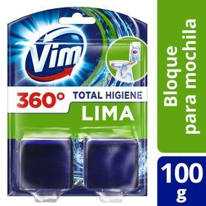 Bloque de mochila para Inodoro Vim Total Higiene Lima 100 gr