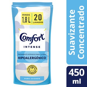 Suavizante Concentrado Comfort Intense Puro Cuidado Doypack 450 ml