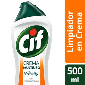 Limpiador Cif Cremoso Flores Naranjas 500 ml
