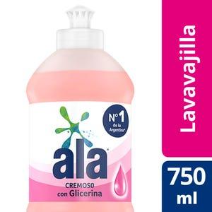 Detergente Lavavajilla Ala Plus Cremoso con Glicerina 750 ml