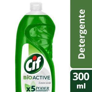 Detergente Cif Concentrado Active Gel Limón Verde 300 ml