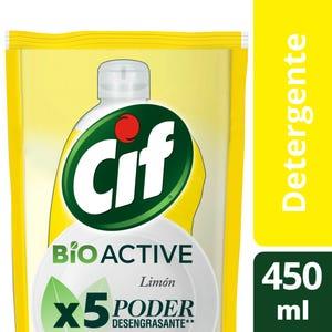 Detergente Cif Concentrado Active Gel Limón Repuesto 450 ml