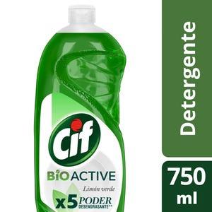 Detergente Cif Concentrado Active Gel Limón Verde 750 ml