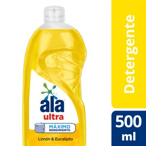 Detergente Lavavajilla Ala Ultra Desengrase Limón 500 ml