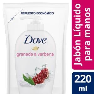 Jabón Líquido Dove Granada y Verbena Repuesto 220 ml