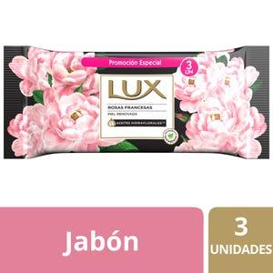 Jabón en Barra Lux Rosas Francesas multipack 3x125 gr