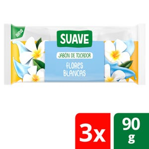 Jabón en Barra Suave Flores Blancas multipack 3x90 gr