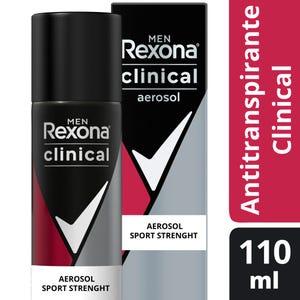Desodorante Antitranspirante Rexona Clinical Sport Strenght en aerosol 110 ml