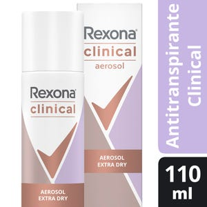 Desodorante Antitranspirante Rexona Clinical Extra Dry en aerosol 110 ml
