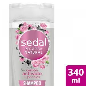 Shampoo Sedal Carbón Activado y Peonias 340 ml