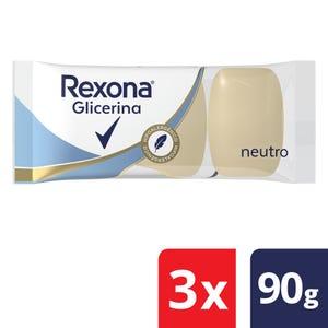 Jabón en Barra Rexona de Glicerina Neutro Multipack 3x90 gr