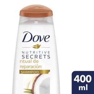 Shampoo Dove Ritual de Reparación Coco y Cúrcuma 400 ml