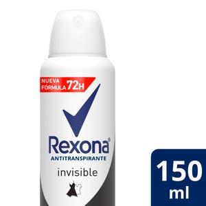 Desodorante Antitranspirante Rexona Invisible en aerosol 150 ml