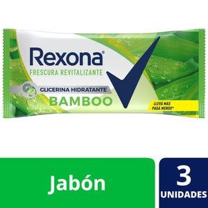 Jabón en Barra Rexona Bamboo multipack 3x125 gr